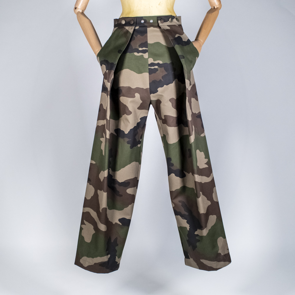 Two Pleats Pants - Utex Camo