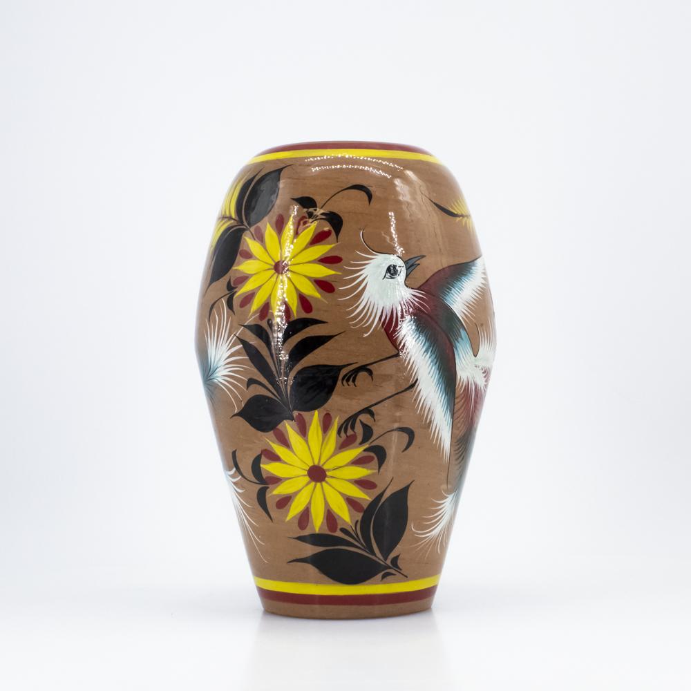 Clay Bird Vase