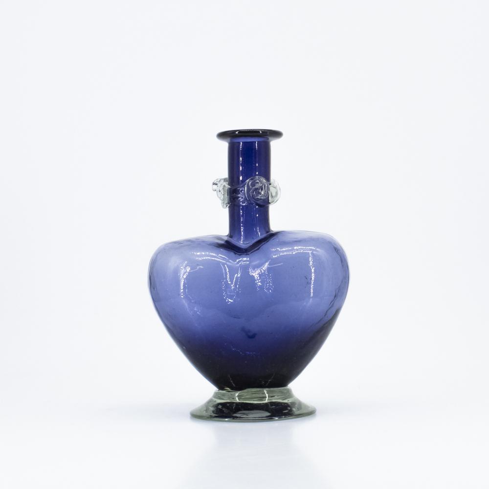 Heart Shaped Glass Vase