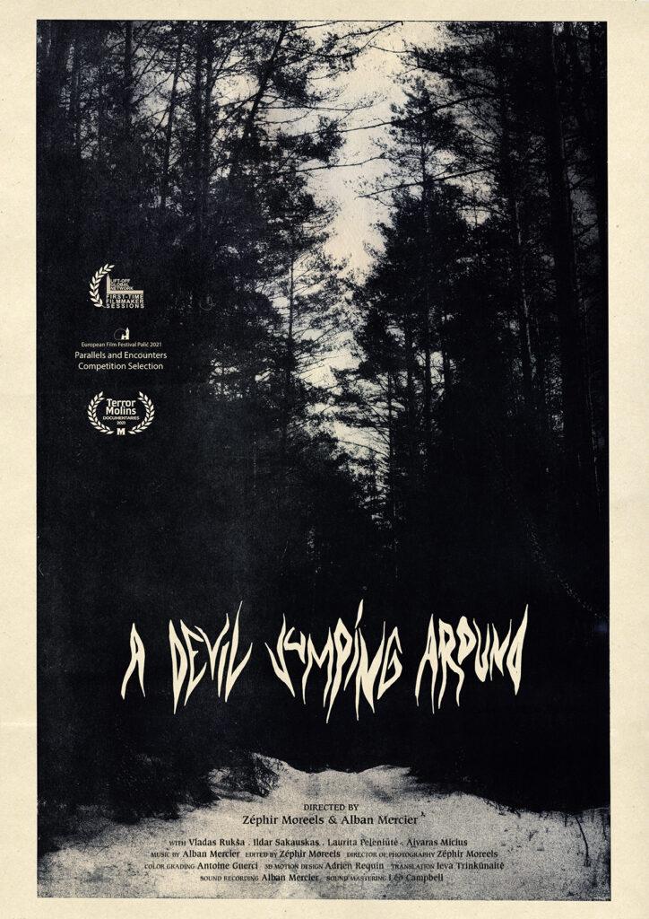 "Poster of Zéphir's film : ""A Devil Jumping Around"""