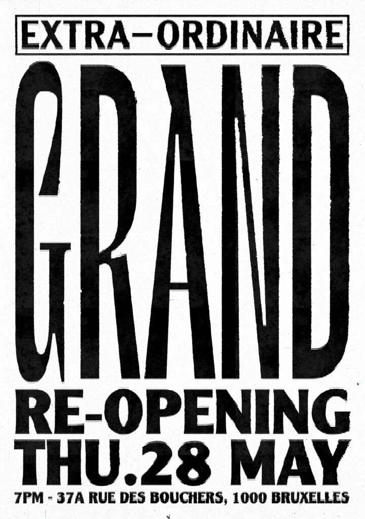 Poster of the event : Extra-Ordinaire reopening