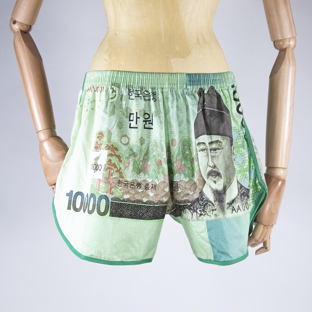 Boxer shorts with Won prints
